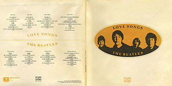 The Beatles - LOVE SONGS (Балкантон ВТА 1141/42)  – color tints of the gatefold sleeve