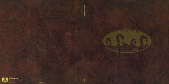 Original UK version of LOVE SONGS 2LP-set by Parlophone – gatefold sleeve, back and front sides